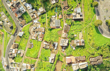 Neighborhood In South Of Quito Aerial