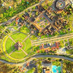City Center Of The World Quito Ecuador Aerial