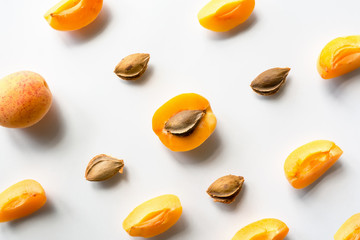 Fresh ripe apricot pattern
