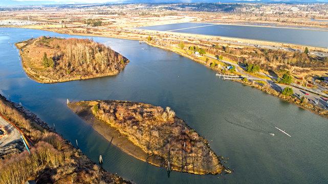 Snohomish River Everett Washington Ferry Baker Island Langus Riverfront Park