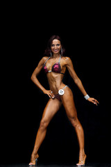 Slim muscled woman
