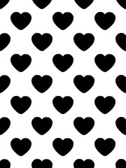 Black hearts on a white background. The theme of Valentines day Vector illustration