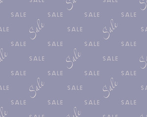 Sale simple background white on blue color Sale background Closeout seamless pattern, Clearance wallpaper Selloff and Sellout theme Vector illustration