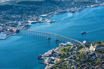 The Tromso Bridge in Norway.