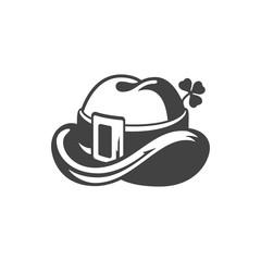 Hat Leprechaun Isolated on white background vector icon