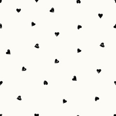 Hand Drawn Hearts Pattern