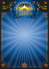 Circus  blue night poster