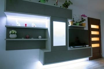 Led backlight in furniture