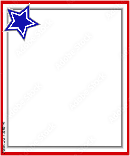 red gray border with a blue star a design template american flag