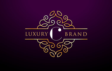 C Letter Logo Luxury.Royal Monogram Design