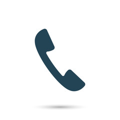 Icon handset. Vector illustration.