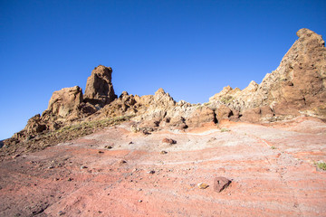 Lunar landscape in Teide National Park on Tenerife