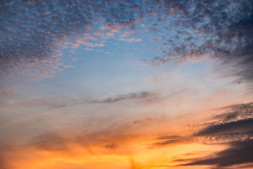Dramatic view of twilight sunrise morning sunset evening sky and cloud.
