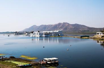 Udaipur, Rajasthan, India. View of Lake Pichola in Udaipur
