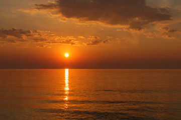 Sunrise and sea landscape  nature background, for graphic backgr