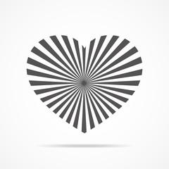 Heart for Valentine's day. Vector illustration.