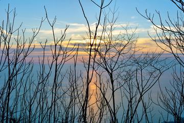 Sunset pieve ligure Italy