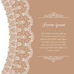 Vintage background with lace border