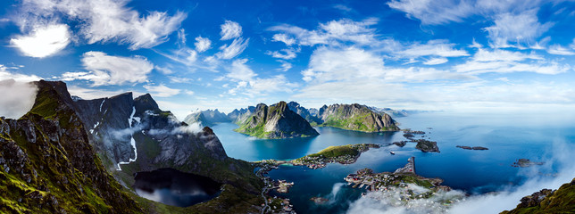 Wall Murals Panorama Photos Lofoten archipelago panorama