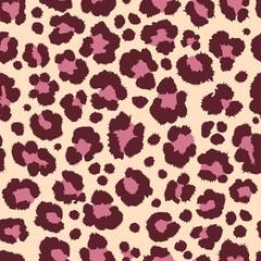 leopard jaguar fur pattern texture repeating seamless pink orange black print