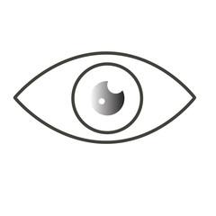 vector eye icon flat gradeint gray