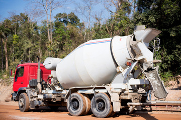 Cement tank car for constructions.