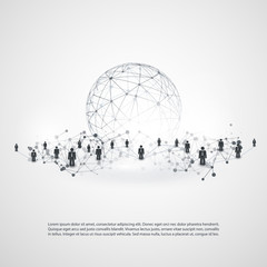 Networks - Business Connections - Social Media Concept Design