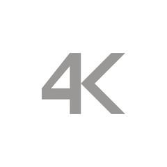 4k icon, vector illustration.