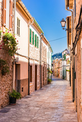 Wall Mural - Picturesque old mediterranean village at Majorca Spain