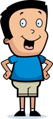 Cartoon Boy Smiling