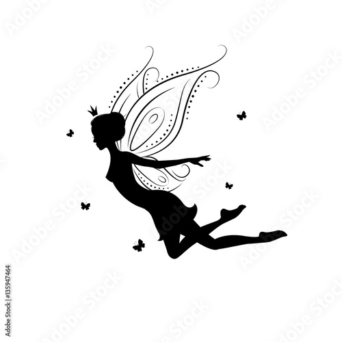 fairy cut out template - silhouette of a fairy template fairy for cut of laser or