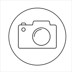 photo camera icon on white background