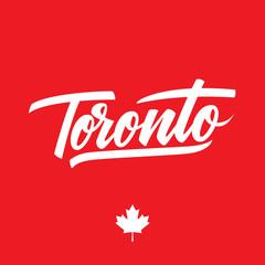 Handwritten city name Toronto. Calligraphic element for your design. Vector illustration.