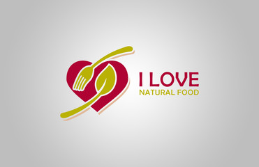 love natural food restaurant logo