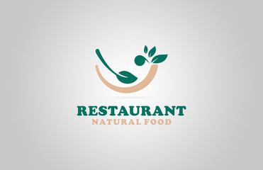 natural food restaurant logo