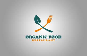organic food restaurant logo