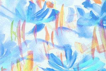 Abtract hand painted watercolor floral design blurred soft focus background