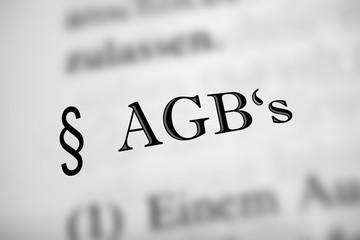 AGB's - schwarzer Text, grau abgesetzt
