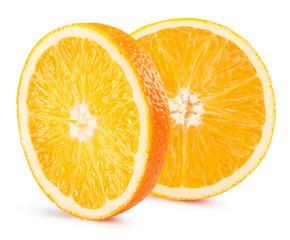 orange slices isolated on the white background