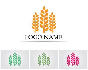 Rice oat food logo