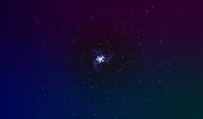 EPS 10. Explosion in space. An expanding galaxy. Vector illustration