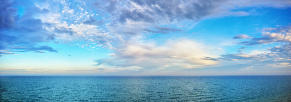 beautiful seascape panorama.