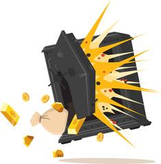 explosion de coffre-fort