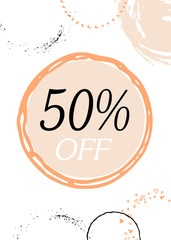 Discount card design. Can be used for social media sale website, poster, flyer, email, newsletter, ads, promotional material. Mobile banner template.