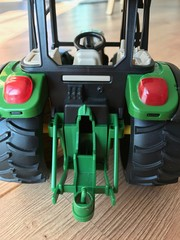 Rear of tractor toy