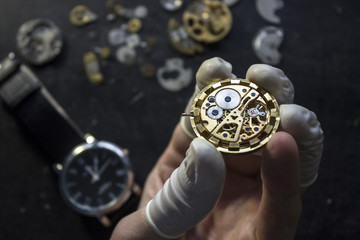 The proccess of repair mechanical watches