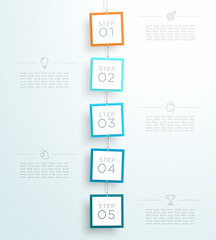 Infographic 5 Steps In 3d Hanging Signs Template A