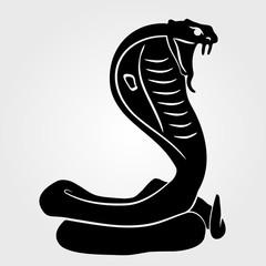 Snake Cobra  icon on a white background