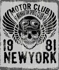 dead biker tee graphic design