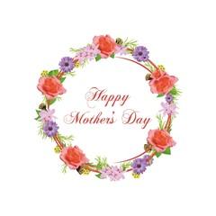 Obraz Happy Mother's Day - wianek - fototapety do salonu